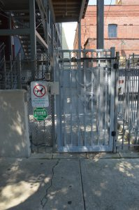 Photo of coded entry door from N 4th St