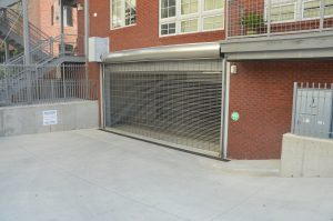 Photo of coded entry for the garage level from Brunswick St
