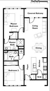"Floor plan ""C"" 2 Bedroom 2 Bath"