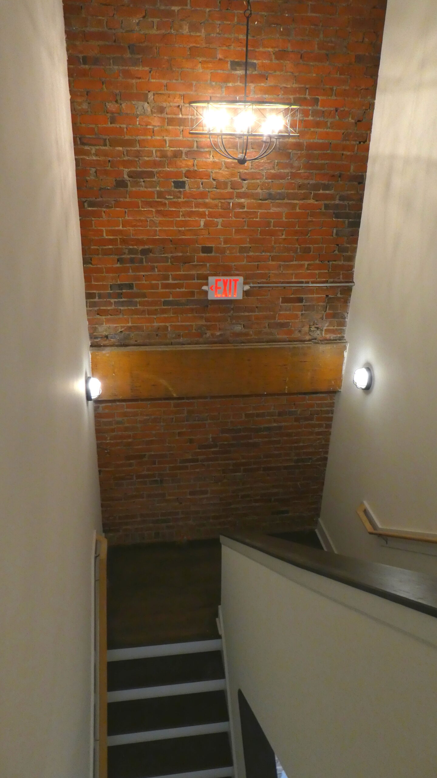 Photo of the stairwell at the Indie Ice Lofts