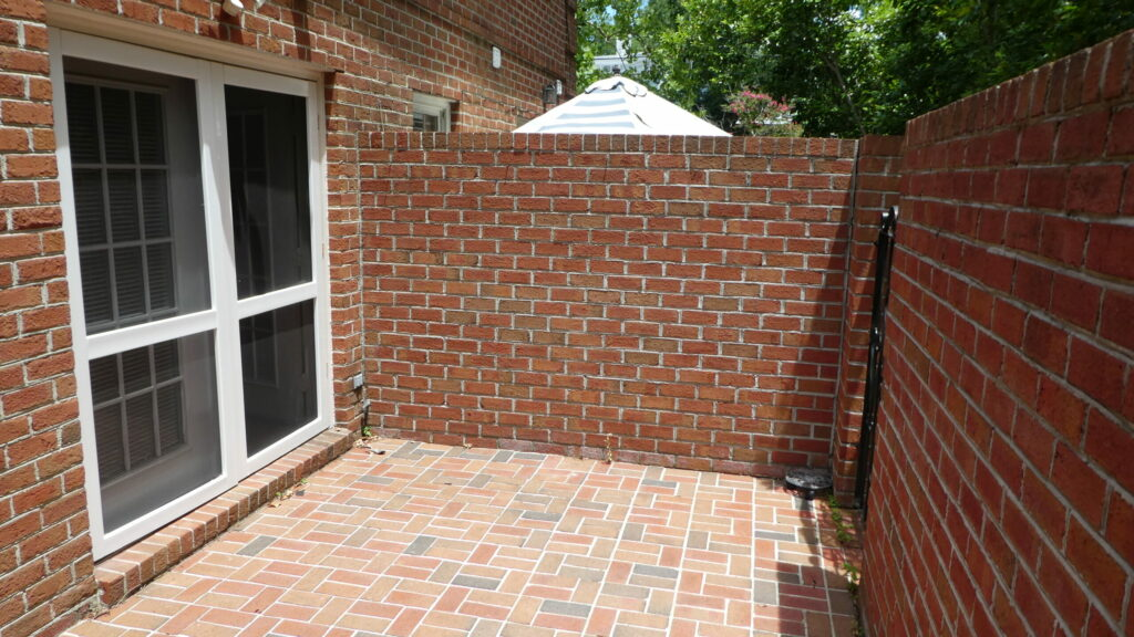 Photo of brick patio at Wilmington Square