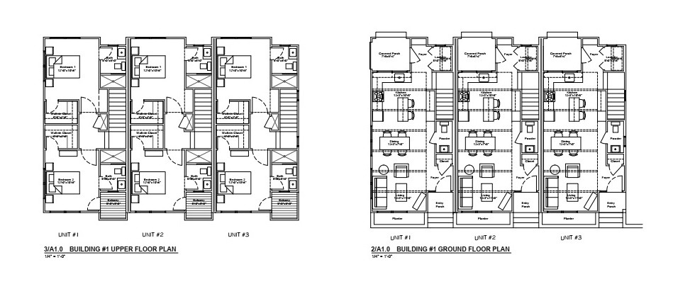 Floor plans 1st & 2nd floors