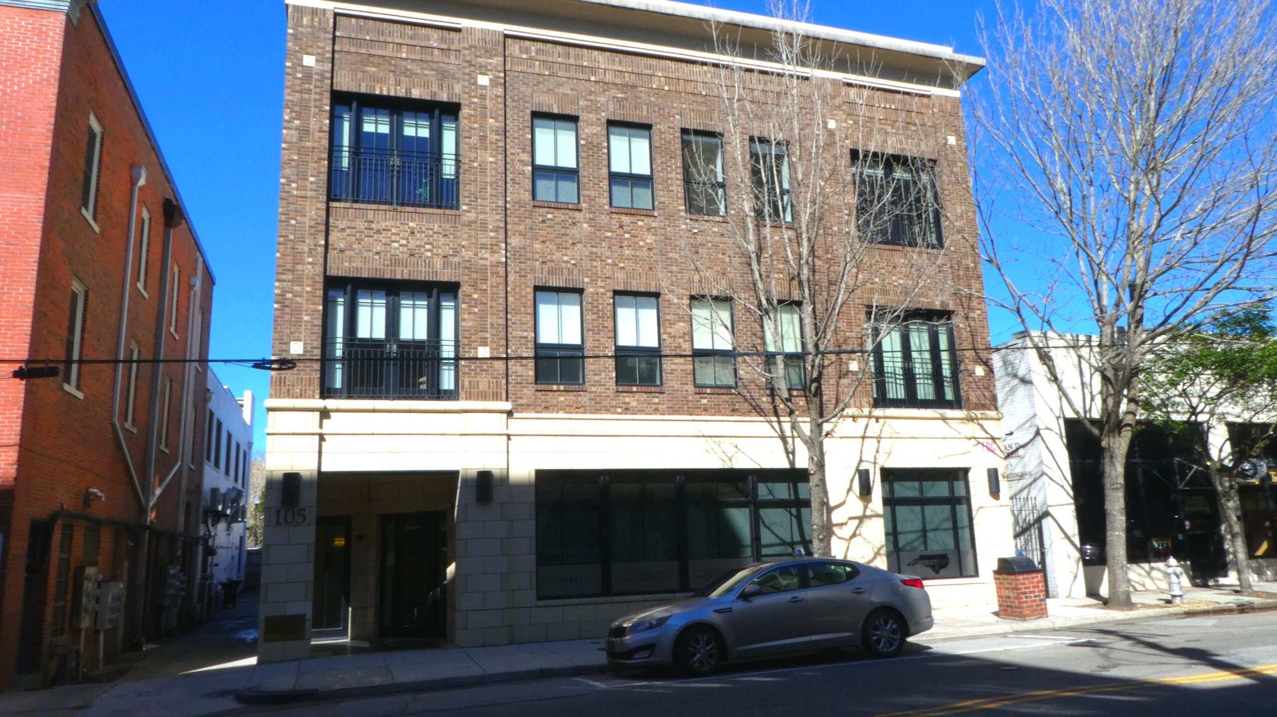 New York Hatters building on Grace Street in Wilmington 4 stories with a brick façade