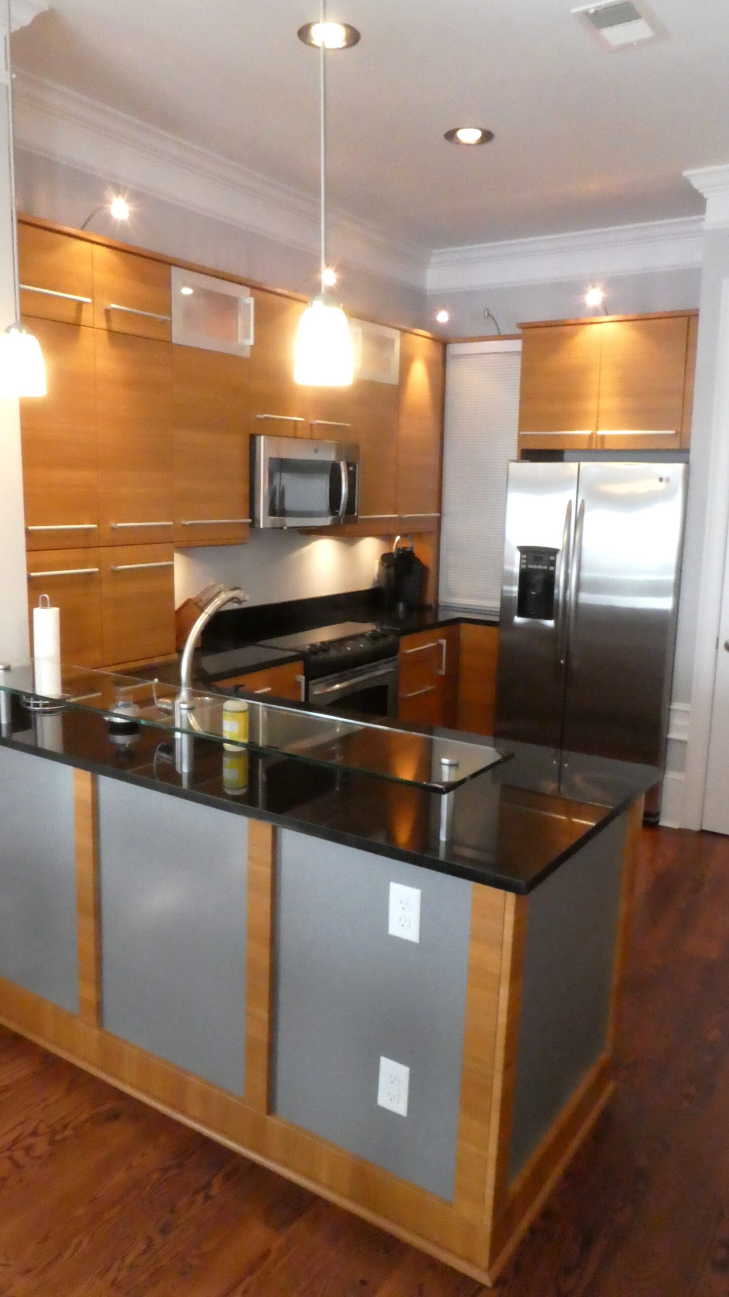 Kitchen to a Grace St Facing unit in the New York Hatters building
